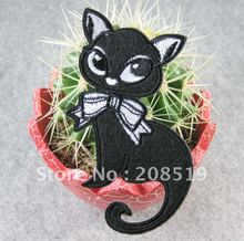 AE054 Iron-on clothes Patches 10pcs Black Cat 10cm*6cm fashion accessory