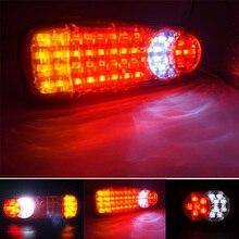 1 пара 12 В/24 В Водонепроницаемый светодиодный S прицеп грузовика грузовик светодиодный Ван хвост свет лампы автомобиля-трейлер задний фонарь заднего хода Предупреждение стоп
