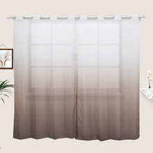 Fly Rainbow Nordic Curtains for the Living Room Bedroom 3D Printed Gradual Change Door Modern Home Window Voile Curtain Cortinas(China)