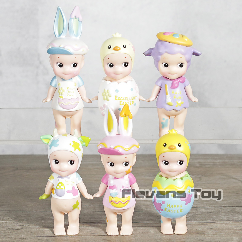 6pcs/set Sonny Angel Mini Cute Figure 2018 Version Happy Easter Series PVC Action Figures Toys Dolls Gift for Kids Children image