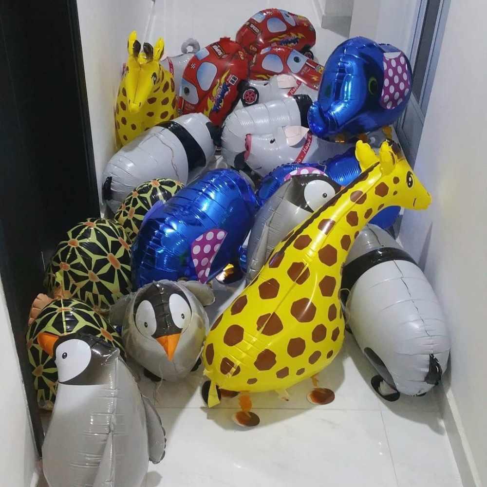 ミックスウォーキング動物ヘリウム風船かわいい猫犬パンダ恐竜虎ペット空気風船誕生日パーティーの装飾子供と大人