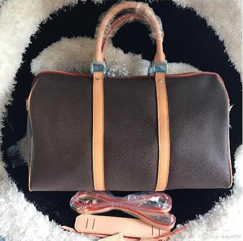 Travelling Bag Women Handbag Size 45/50/55 Keepall Bag Genuine Leather With