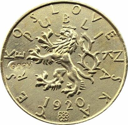 1920 Czechoslovakia 5 Stotin Coins Copy 27.4MM