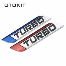 Autoadesivo dell'automobile Dell'emblema TURBO METAL GRILL Tronco Posteriore del Distintivo Dell'automobile per Audi BMW Ford focus VW skoda sede Peugeot lada Renault Hyundai(China)