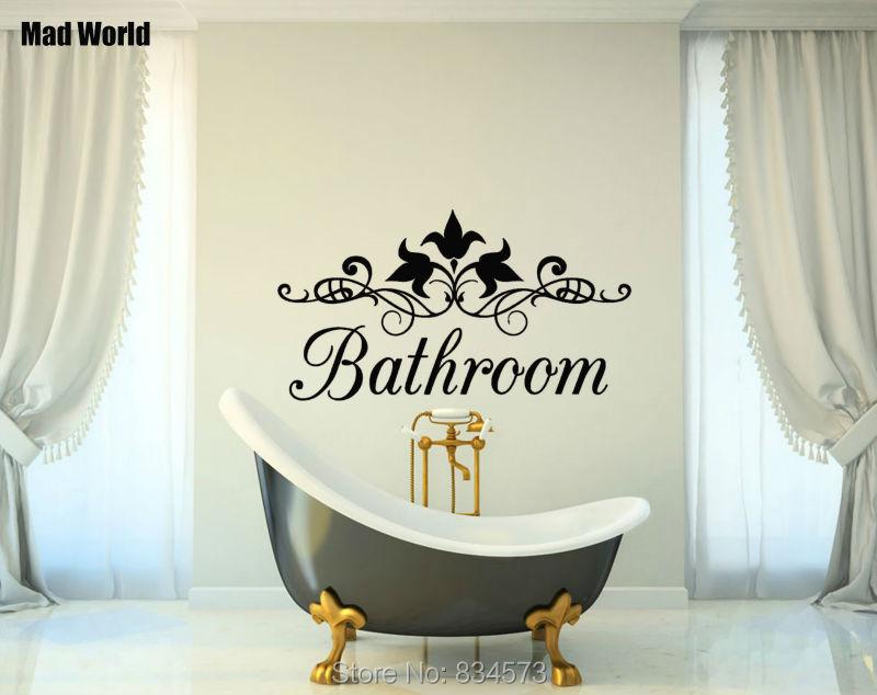 Decoratie Badkamer Muur : Mad wereld interieur bloemen badkamer bad citaat muur art sticker