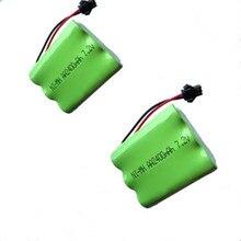 2 Unid 7.2 V batería 2400 mAh ni-mh batería 7.2 V pilas recargables NiMH 7.2 V AA tamaño ni MH para RC coche juguete herramientas eléctricas