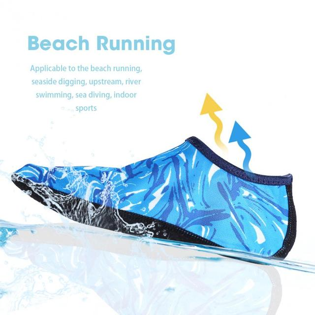 88612fc7ff7 Water Sports Beach Shoes Soft Rubber Quick Dry Diving Socks Non-slip Yoga  Socks Men