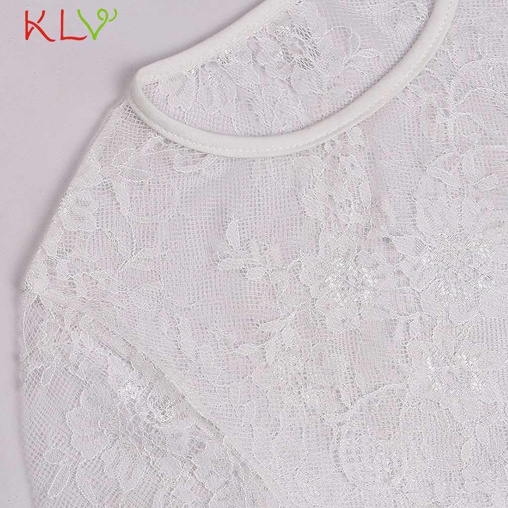 Malla superior blanco mujeres Sexy encaje corto Crop camiseta Top transparente Harajuku Undershirt camisetas femeninas Clubwear 18chan21