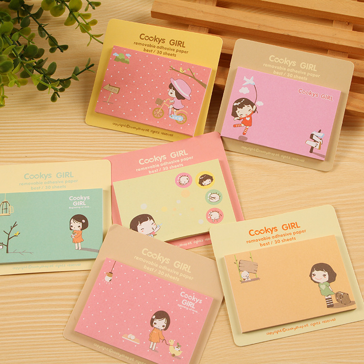 2Pcs/Lot 2018 Rilakkuma New Arrival Sticky Post It Note Paper Cute Girl Shaped Memo Pad Gift Office Supplies K6871