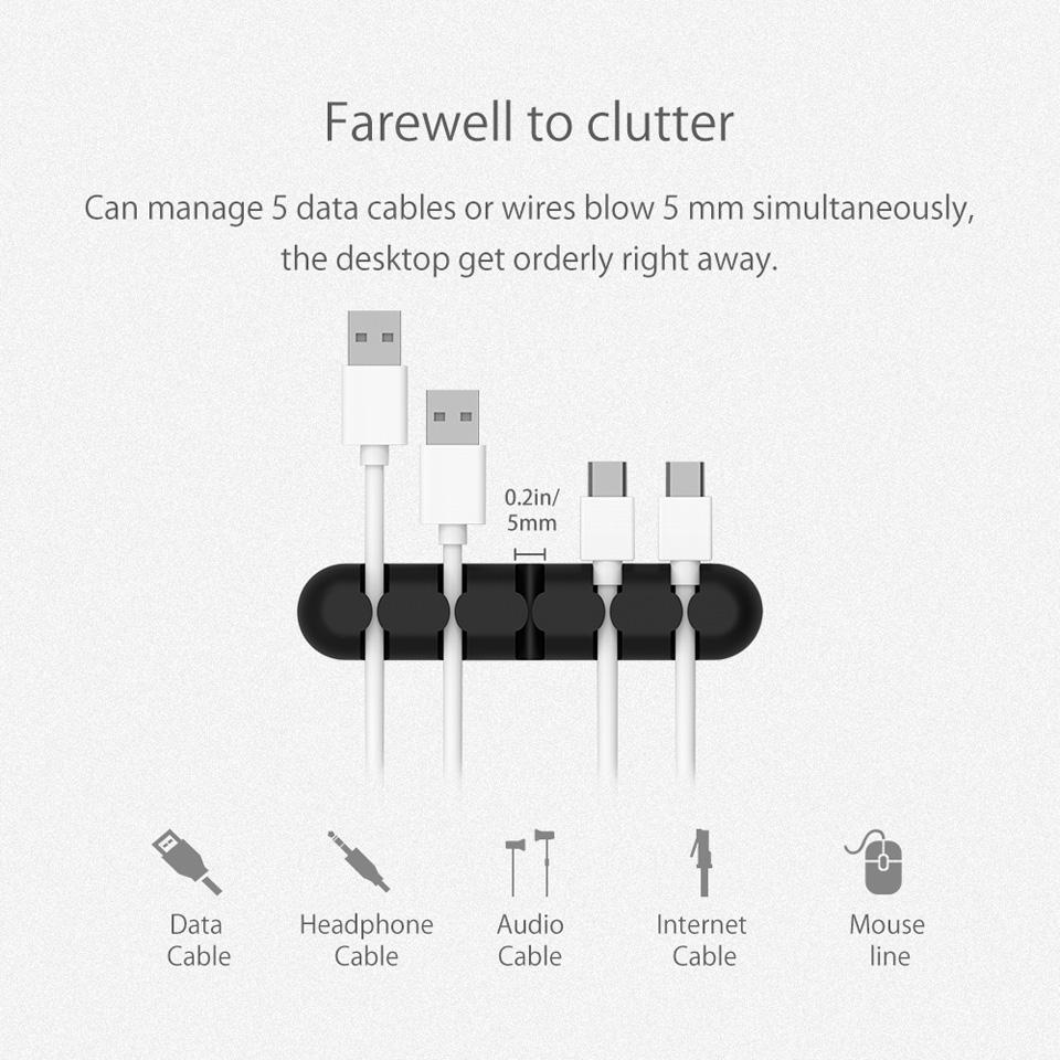NTONPOWER Silicone Earphone Cable Organizer (4)