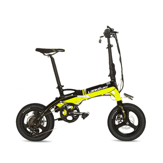 Cyrusher A6 мини 7 скоростей 14 дюймов складной велосипед 240 Вт 36 В двойной дисковые тормоза складной ebike с съемный Батарея