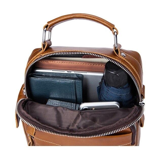 578b8e10e4e2 Mva Business Casual Bag Leather Crossbody Bag Vertical Shoulder Bag Fashion  Men S Bag Leather Briefcase