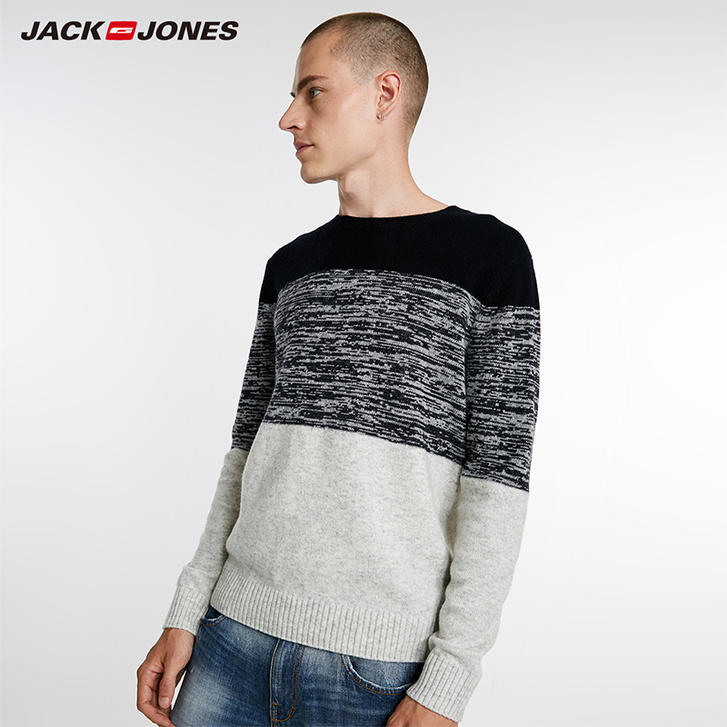 Jack Jones Brand New Fashion Casual O-neck Wool Blend Pullover Knitted Sweater Men |218324531