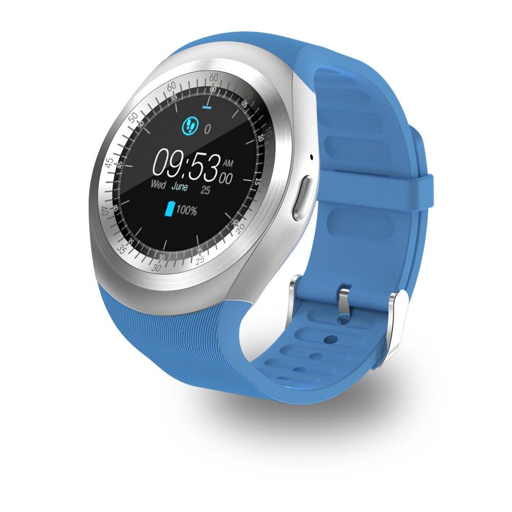 Smartch Y1 Intelligente Watchs Supporto Rotondo Nano SIM e Carta di TF con Whatsapp E Facebook Uomo Donna D'affari Smartwatch Per IOS Android