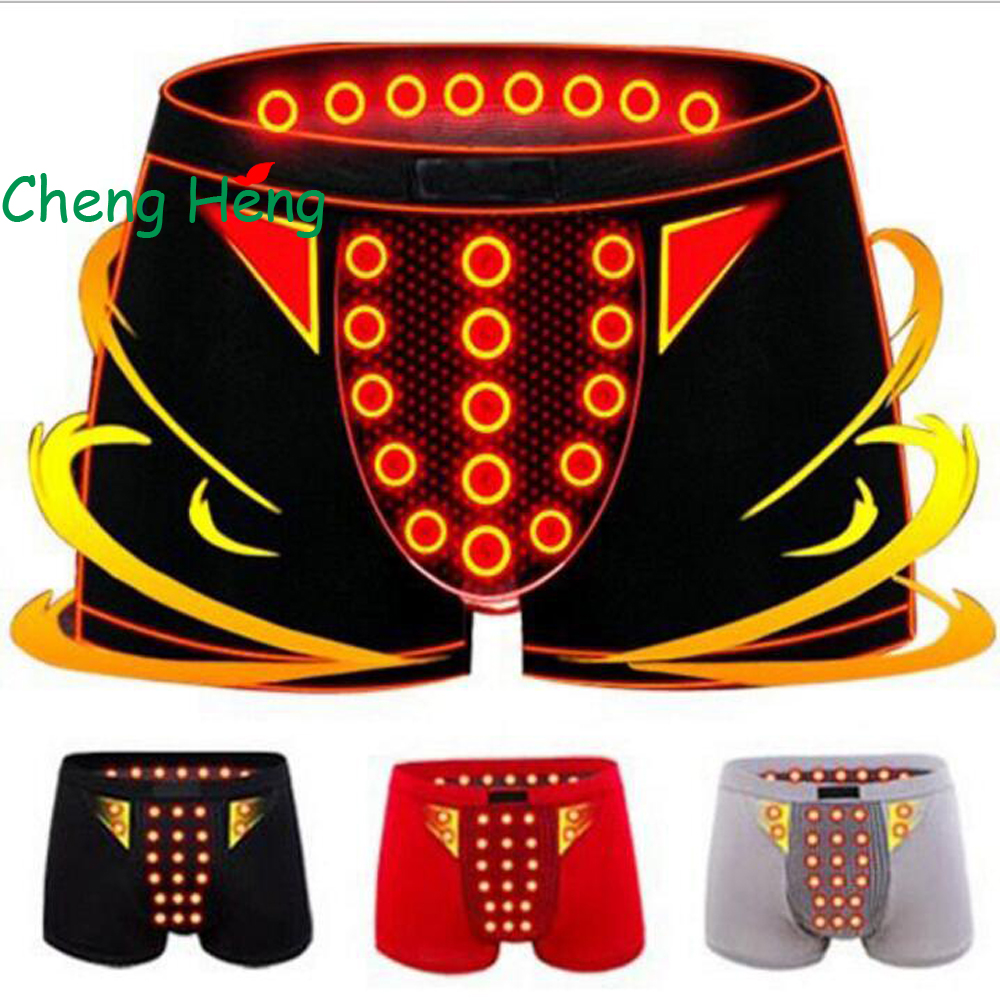 CHENG HENG Male Underwear Mens Sexy Magnetic Therapy Boxer Shorts Health Care Underwear Breathable Casual Boxer Men Panties