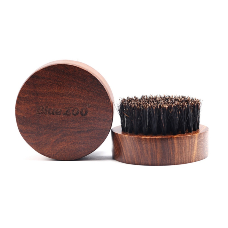 1pc Mini Beard Brush Boar Bristles Mustache Natural Wood Comb Handmade Grooming Kit Men Beards Mustache Care