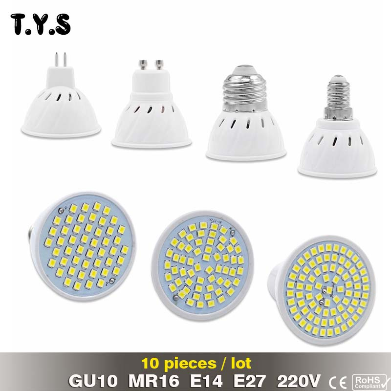 10pcs Bombillas led 3W 4W 5W 220V 2835 LED Spotlight bulbs GU10 MR16 E14 E27 For Home LED Spot light Energy Saving Lampada Lamp luckyled brand bombillas led bulb spot light 3w 4w 5w 6w smd 2835 5730 gu10 led spotlight ac110v 220v for home lampada lamp