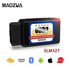 OBD2 Bluetooth ELM327 V 1.5 Scanner for iPhone IOS Android OBDII Code Reader Auto OBDII Scan Tool ELM 327 V1.5 Diagnostic Tool