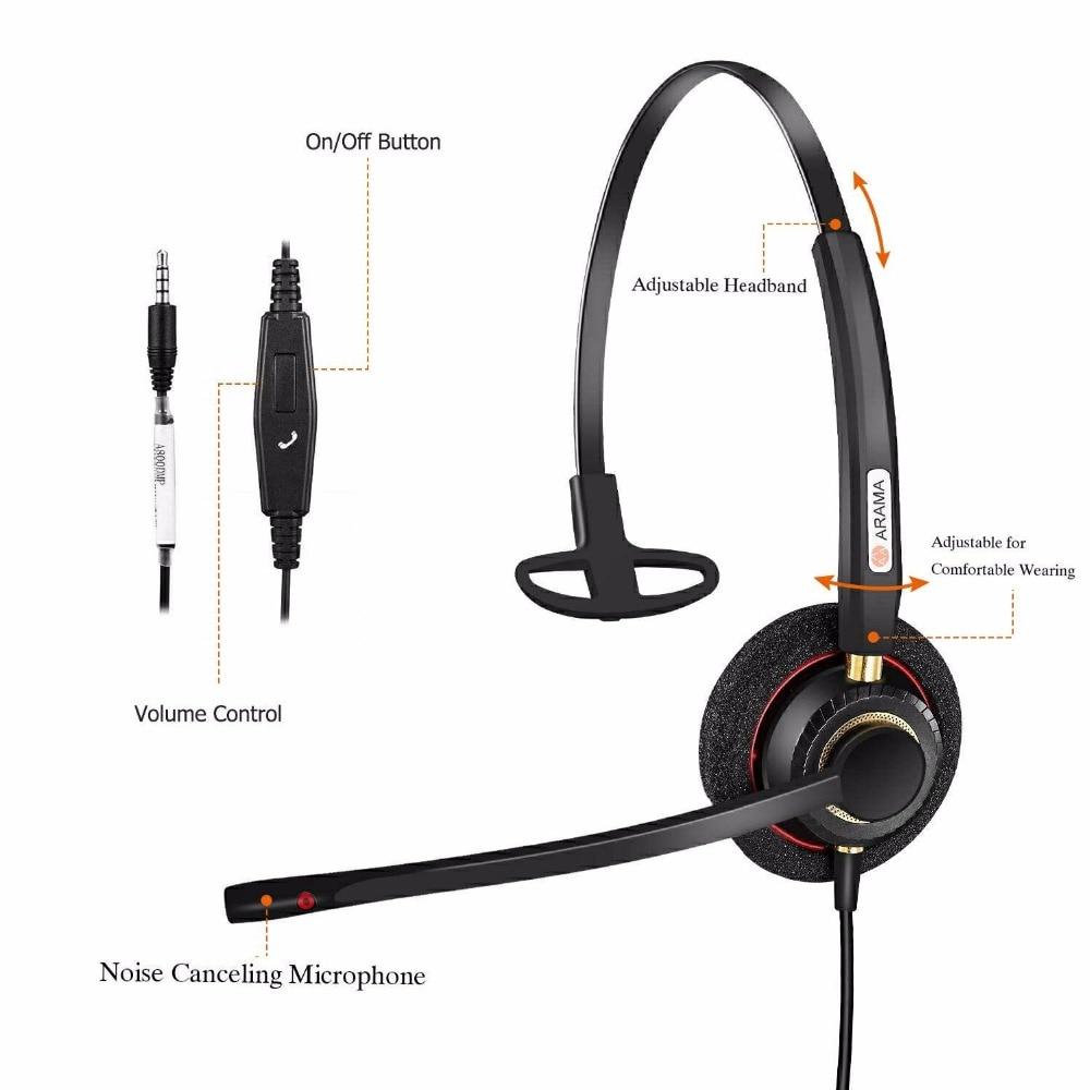 Проводная гарнитура для сотового телефона с шумоподавлением, микрофон, наушники для iPhone, Samsung, xiaomi, Huawei, мобильный телефон с разъемом 3,5 мм - 5