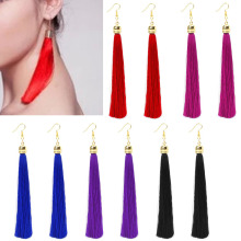 Long Tassel Earrings Vintage Long Tassel Dangle Earrings Thread Fringe Drop Earring Women Fashion Jewelry t44
