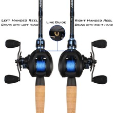 Stylish Carbon Fiber 6.3:1 Bait Casting Fishing Reel