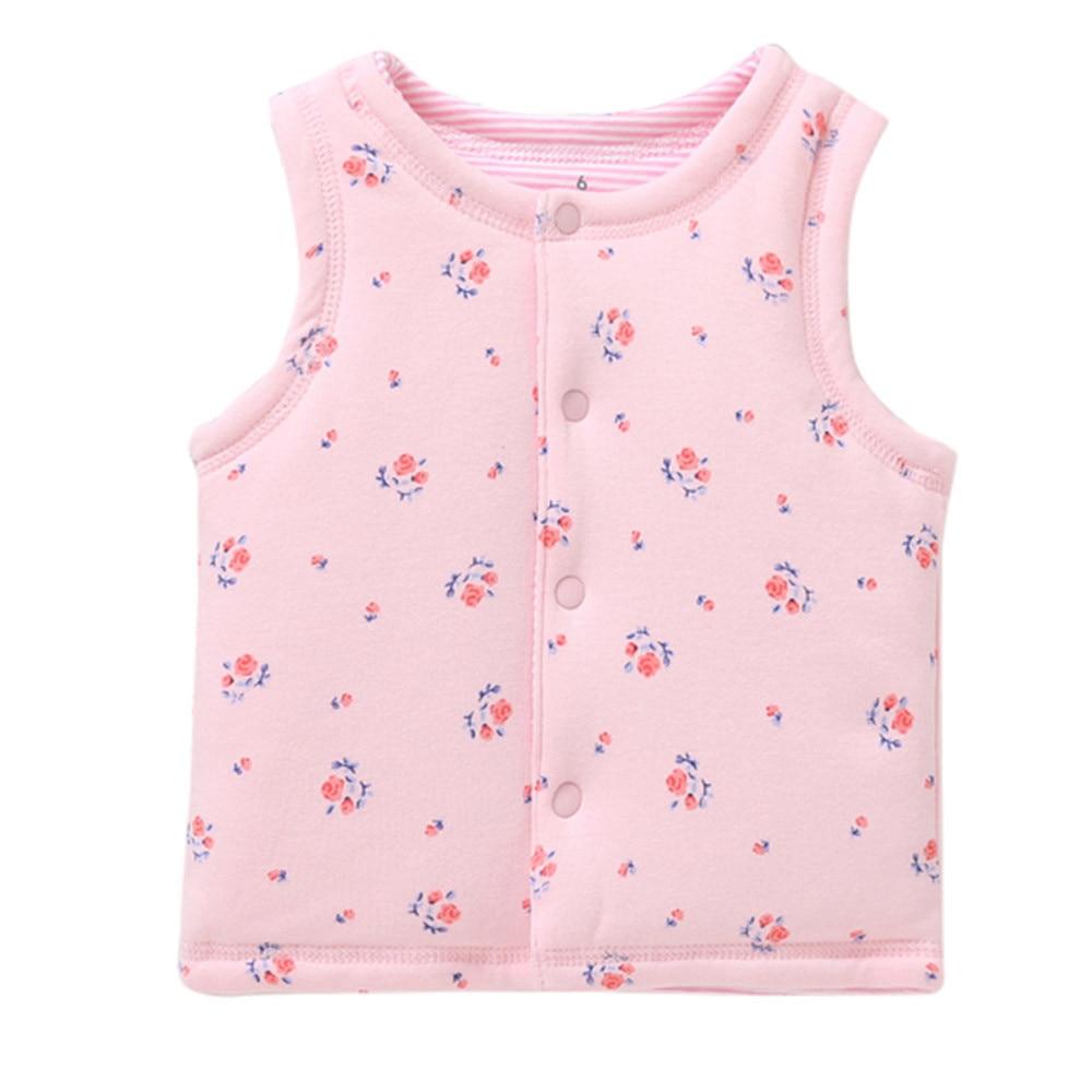Besorgt Muqgew Kid Infant Cartoon Jacken Gedruckt Baby Kleinkind Warme Weste Weste Kleidung Mantel Conjunto Infantil Bebek Giyim