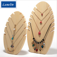 Wood frame for necklace display jewelry holders for pendants receive Photography props for Shop pendan Show Stand Holder Rack