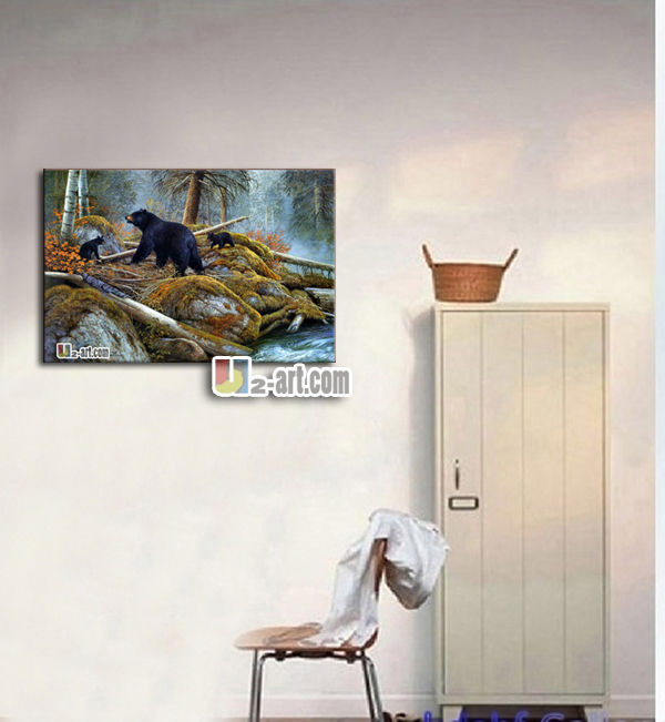 Bear Oil Paintings Canvas Office Art Cheap Modern Wall Decoration Beautiful  Animal Prints In Painting U0026 Calligraphy From Home U0026 Garden On  Aliexpress.com ...