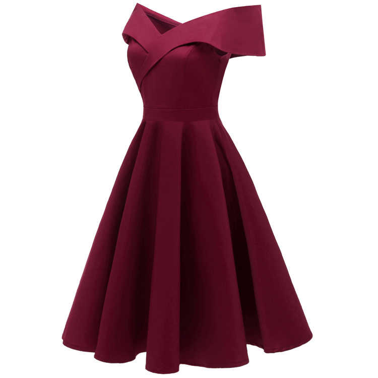 23a0aa7db6120 Off The Shoulder Women Dress Satin Midi Party Dresses Prom Graduation  Bridesmaid Wedding Cocktail Birthday Occasion Dresses Robe