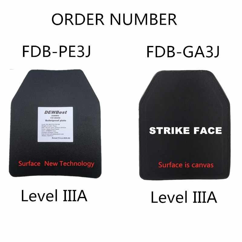 DEWBest NIJ уровень IIIA пуленепробиваемая панель/уровень 3A автономная баллистическая панель/уровень 3A бронежилет пластины