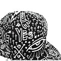 Bes skyman #3001 Unisex Vintage Hippie Sombrero de Béisbol Bill Plano Ojos Hiphop Tapa Ajustable