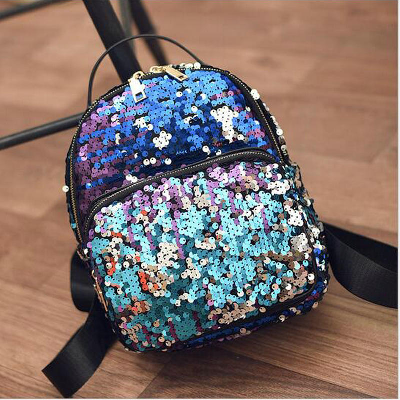 Backpack School-Bag Sequins Princess Cool Girls Kids Personalized Fashion Bling Beautiful Сумка