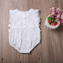 Baby Girls Floral Romper Bowknot Clothes Jumpsuit