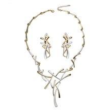 Angelady 1 комплект ожерелье серьги невесты свадебные женские украшения Роскошные Этнические крест кулон аксессуары для невесты