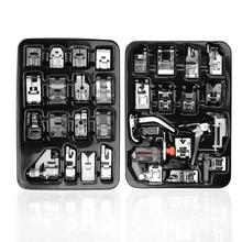 16pcs Mini Sewing Machine Presser Foot Feet For Brother Singer Janome Braiding Blind Stitch Darning
