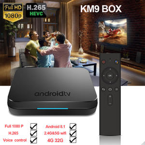 KM9 ATV smart Voice Control 4G 32G Android 8.1 Amlogic S905X2 box
