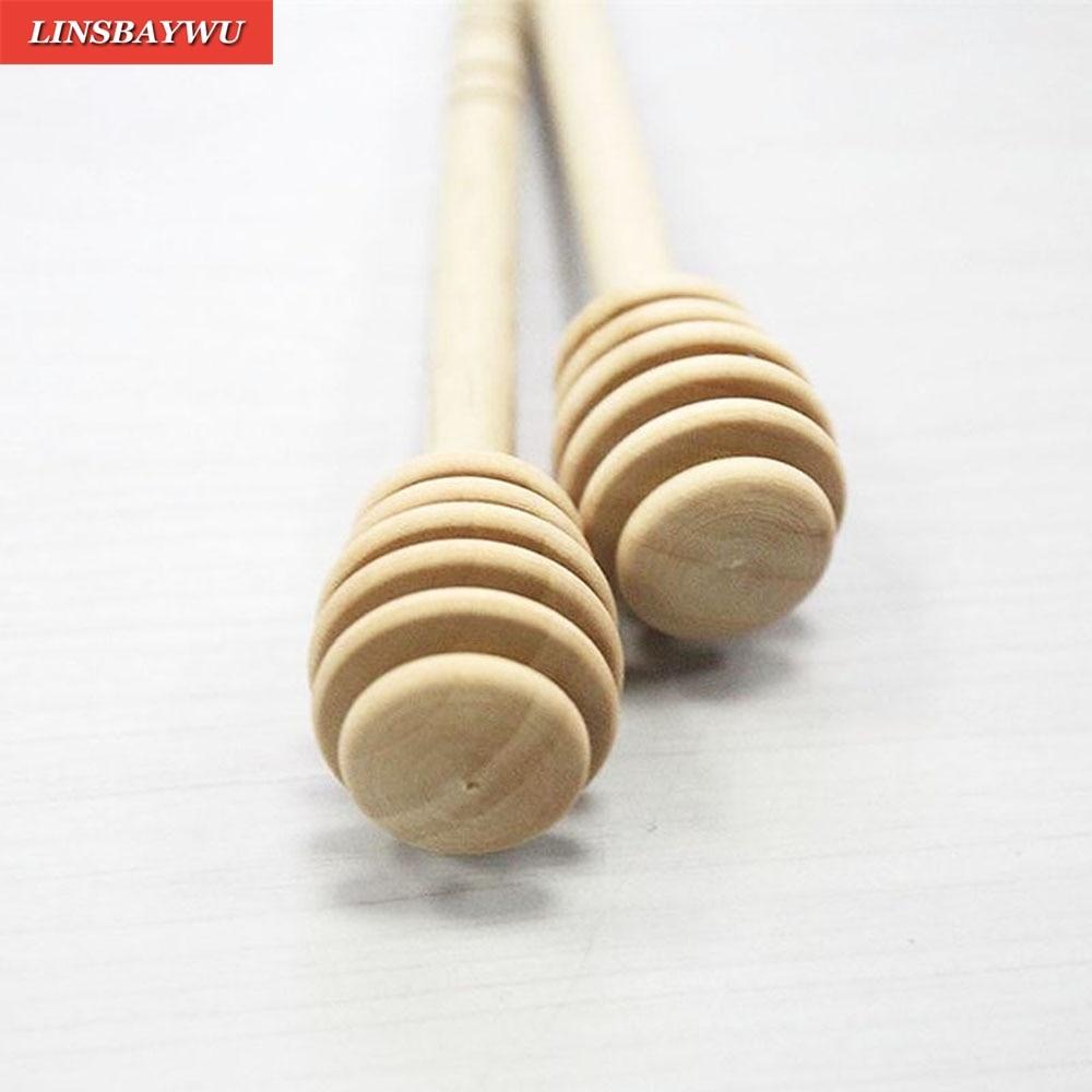 Honey Wood Dipper Drizzler Mini Large Stirring Rod Stick Spoon G