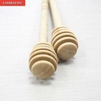 Palito agitador de madera de alta calidad  cuchara de inmersión  servidor de Drizzler  Mini agitador de miel de abeja de 160mm de largo  agitador honey dipper wooden stir sticks mini wooden honey dipper -