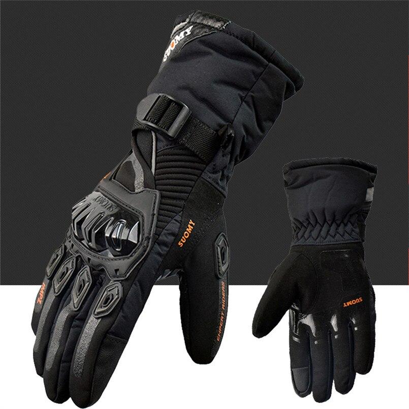 SUOMY Hiver chaud moto gants 100% Imperméable coupe vent Gants Moto Luvas Tactile Écran Motosiklet Eldiveni De Protection dans Gants de Automobiles et Motos