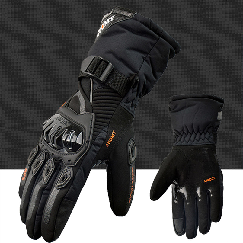 SUOMY Winter warm motorcycle gloves 100% Waterproof windproof Guantes Moto Luvas Touch Screen Motosiklet Eldiveni Protective