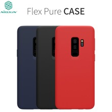 NILLKIN Flex Pure CASE For Samsung Galaxy S9 S9 Plus Slim Soft Liquid Silicone Rubber Shockproof Phone Case for Samsung S9 S9+