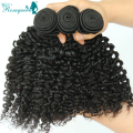 Mongolian Afro Kinky Curly Virgin Hair 1 PC Only Crochet Human Hair Extensions Rosa Queen Hair Products Natural Black Color