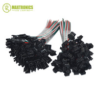 50 Pair 3 Pin JST SM Connectors For WS2812B WS2811 WS2812 LED Strip Female Male