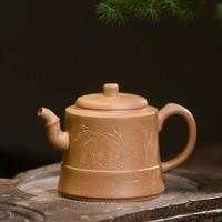 210ml Zisha pot handmade Oolong Tea Teaware Yixing Purple Clay Teapot Authentic Famous Old Section Mud Jingzhu Tea Set