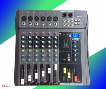 Professional USB color display, mixer, 4/6/8 Road, stage performance effects