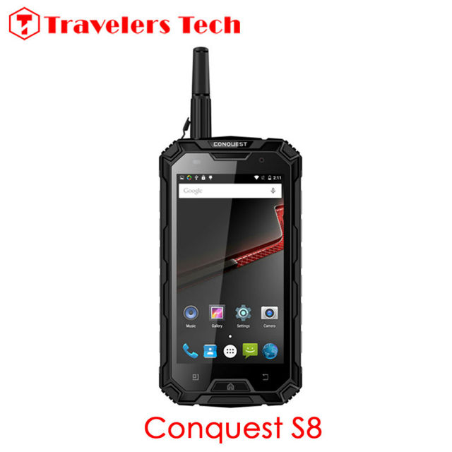 "Original Conquest S8 IP68 Rugged Waterproof Phone 6000mAh Battery Quad Core 5"" HD 3GB+32GB NFC PTT 4G LTE Unlocked Phone OTG NFC"