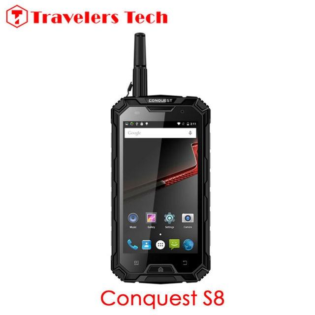 "Original Conquest S8 IP68 Rugged Waterproof Phone 6000mAh Battery Quad Core 5"" HD 3GB+32GB NFC PTT 4G LTE Unlocked Phone OTG NFC"