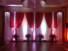 3m  * 6m pure white with Hot Red Wedding backdrop Luxury Wedding decoration