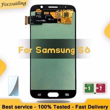 Super AMOLED wyświetlacz Lcd do Samsung Galaxy S6 G920 G920F wymiana ekranu LCD Digitizer zgromadzenia darmowa wysyłka z bezpłatnym prezentem tanie tanio fix2sailing Pojemnościowy ekran Nowy 2560x1440 3 Monitorów lcd Black White Gold Blue For Samsung Galaxy S6 G920 G920F