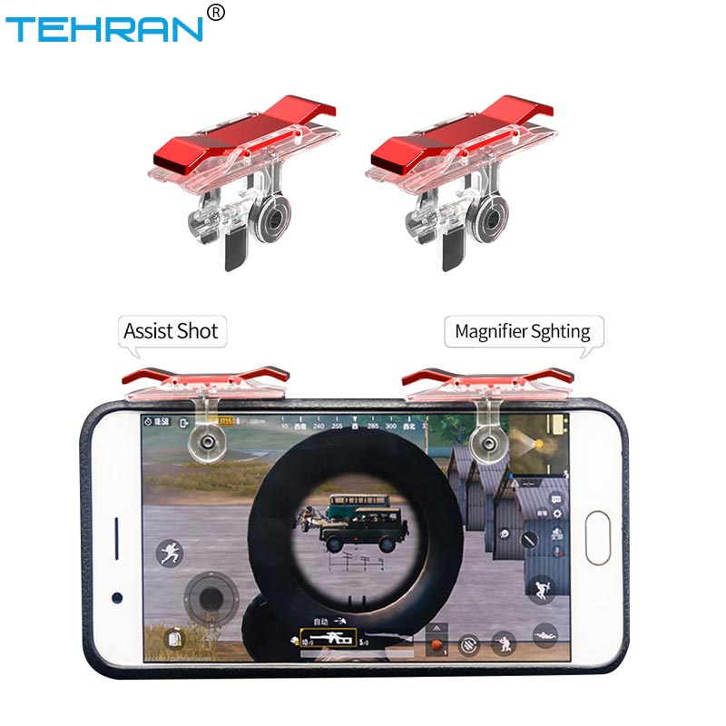 1 Pair Pubg Trigger Fire Button For Mobile Phone Game Controller Shooter Trigger Universal For iPhone Samsung Xiaomi Huawei